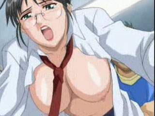 Hentai virgin boy bangs teacher